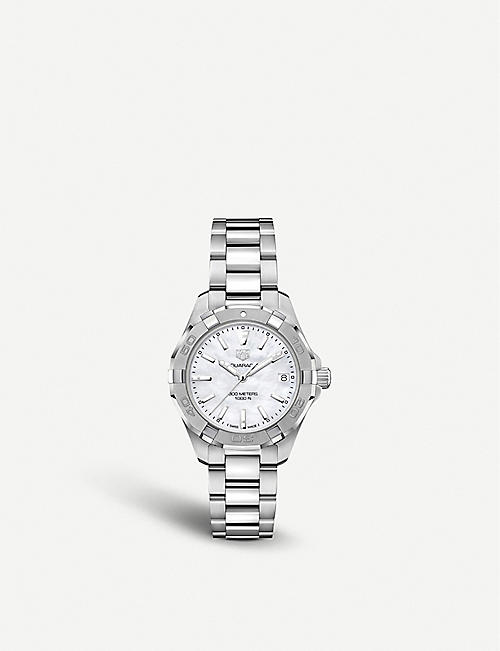 TAG HEUER: WBD1311.BA0740 Aquaracer Lady Nacre steel and mother of pearl quartz watch