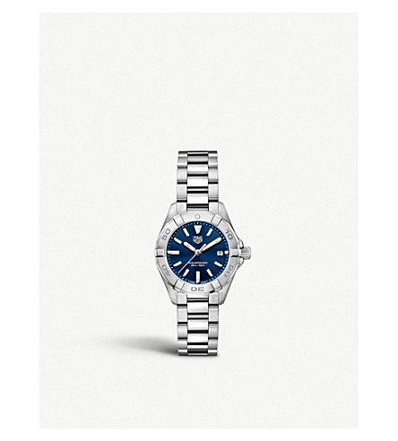 Tag Heuer WBD1412. BA0741 AQUARACER STEEL AND SAPPHIRE-CRYSTAL WATCH