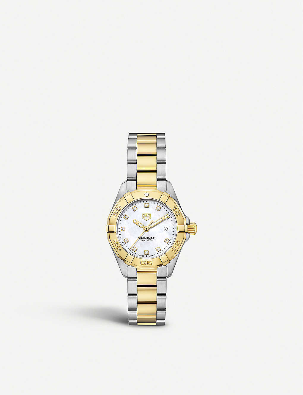 WBD1422 BB0321 Aquaracer 18ct gold and stainless steel watch