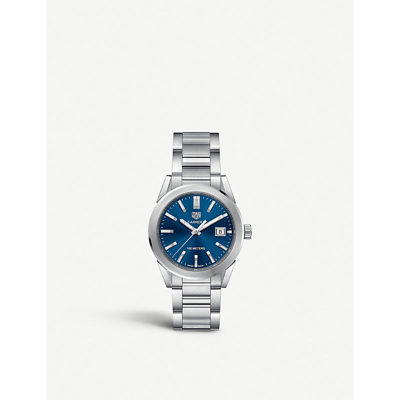 TAG HEUER | WBG1310BA0758 Carrera Stainless Steel Quartz Watch | Goxip