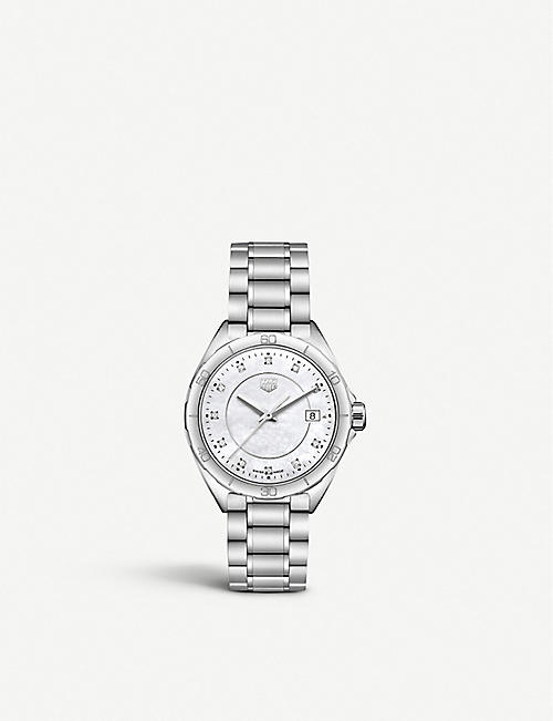 5bc4849f1366c TAG HEUER WBJ1319BA0666 Formula 1 stainless steel and mother-of-pearl watch