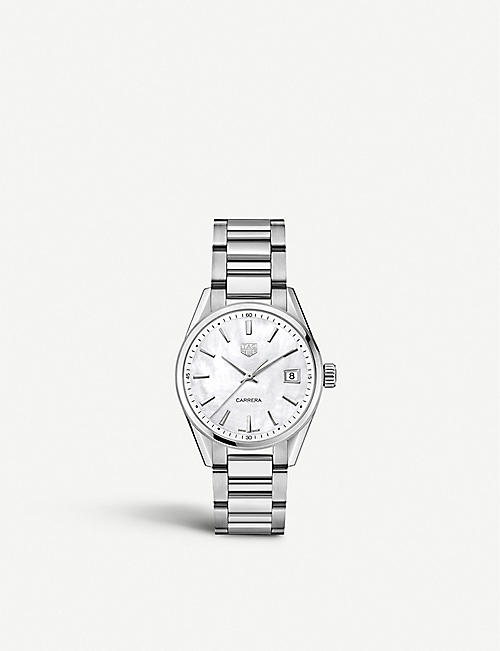TAG HEUER WBK1311.BA0652 Carrera mother-of-pearl stainless steel watch