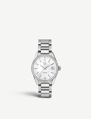 TAG HEUER WBK1316.BA0652 diamond, mother-of-pearl and stainless steel watch