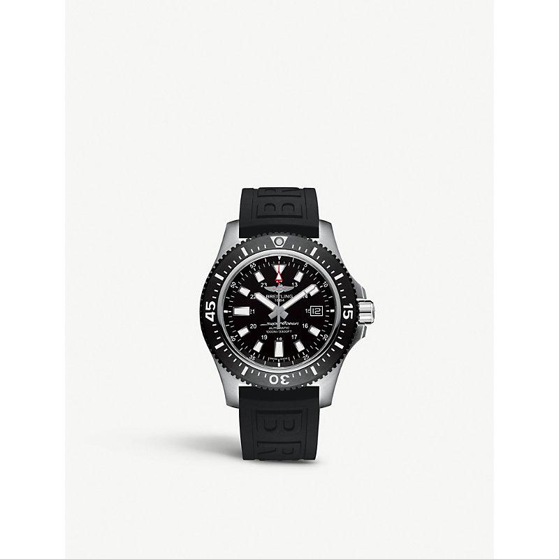 BREITLING | Y1739310|BF45 Superocean 44 Special Black Steel Watch | Goxip