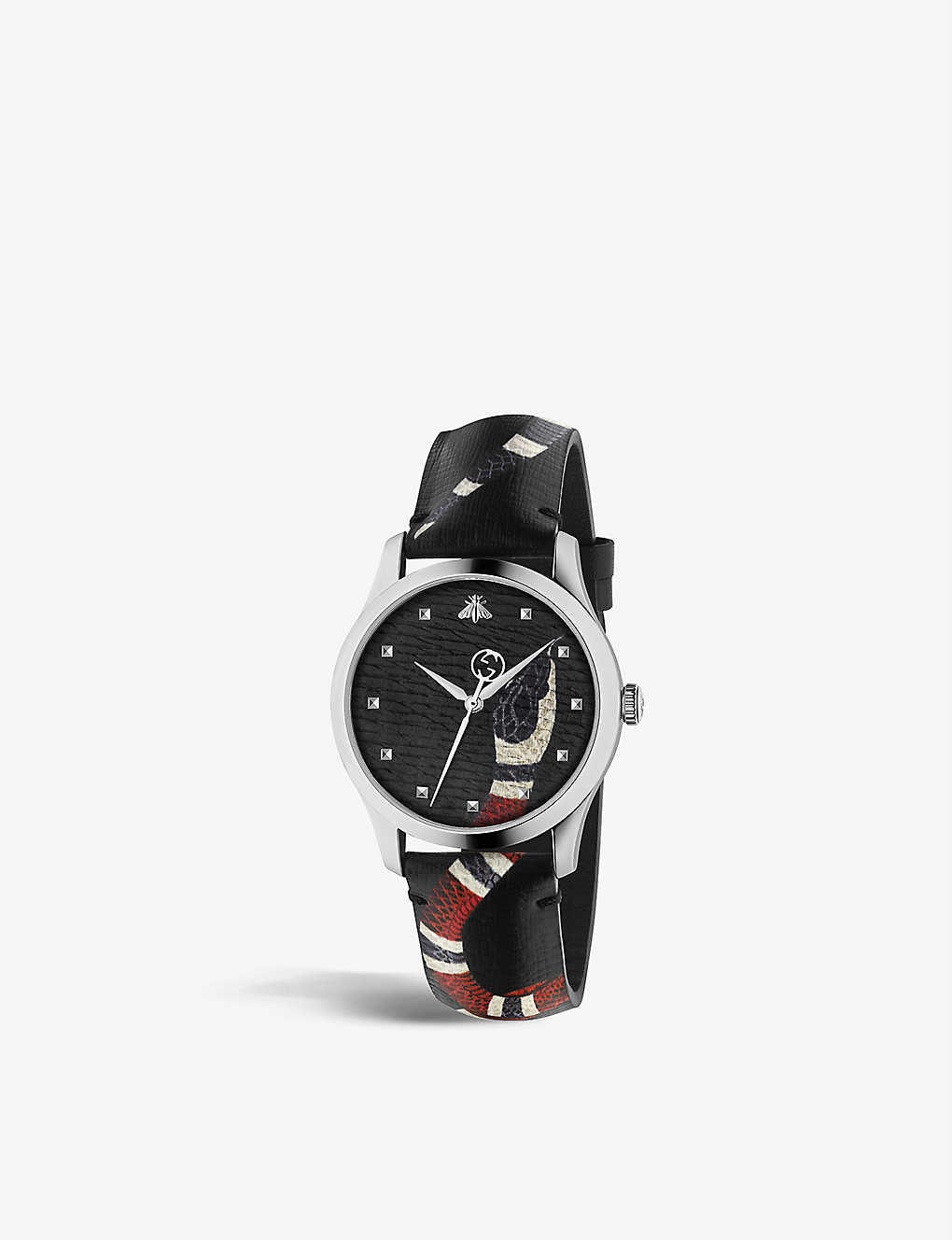 6136c2e8133 YA1264007 Le Marché Des Merveilles stainless steel and leather watch ...