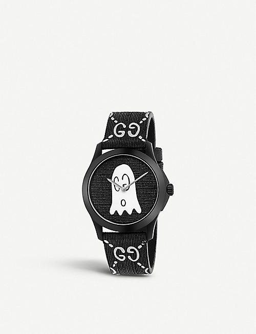 308db0665ca GUCCI YA1264018 G-Timeless Ghost stainless steel and rubber watch