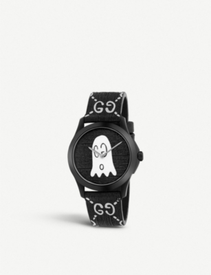 2d568b3f134 GUCCI - YA1264018 G-Timeless Ghost stainless steel and rubber watch ...
