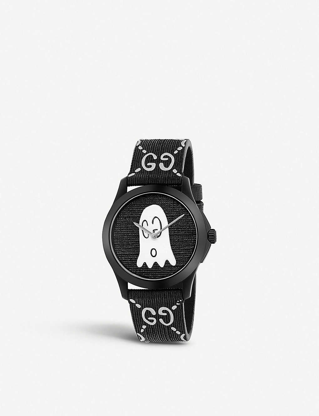 b00f125b499 GUCCI - YA1264018 G-Timeless Ghost stainless steel and rubber watch ...