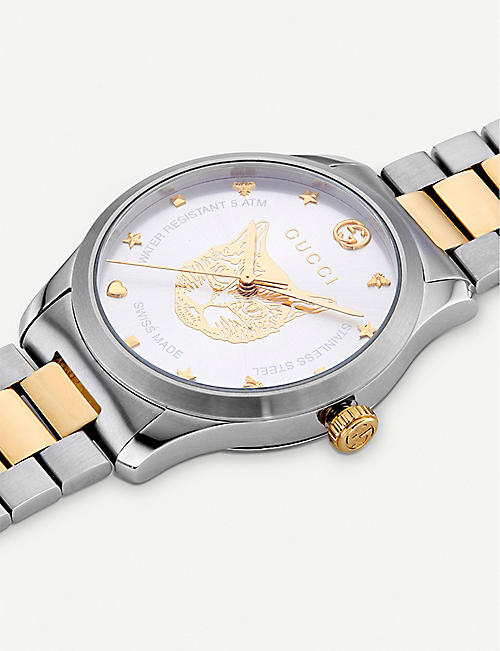 GUCCI YA1264074 G-Timeless stainless steel and gold-plated watch