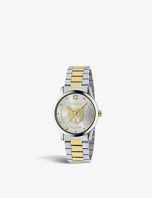 c58bace47ec GUCCI YA1264074 G-Timeless stainless steel and gold-plated watch