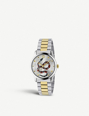 GUCCI YA1264075 G-Timeless stainless steel and gold-plated watch