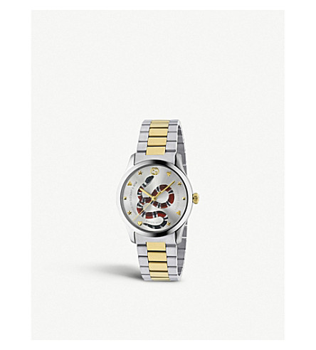 e47fcab0b GUCCI - YA1264075 G-Timeless stainless steel and gold-plated watch ...