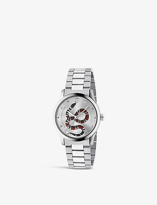 af59ebc8133 GUCCI YA1264076 G-Timeless stainless steel bracelet watch