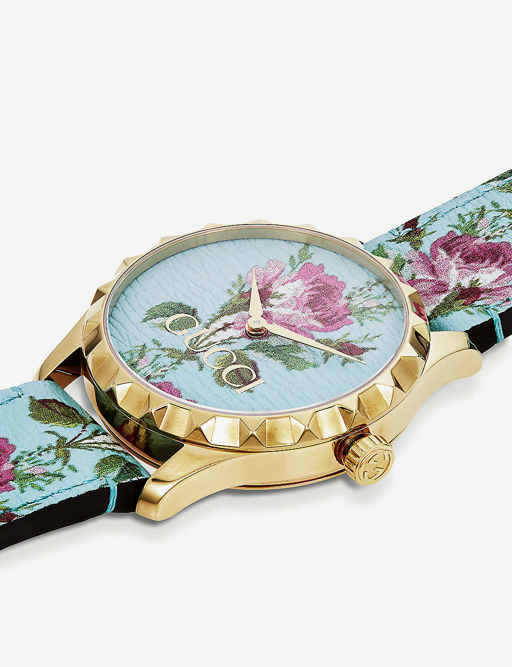 745afa3d65c GUCCI - YA1264085 G-Timeless yellow-gold PVD and leather watch ...