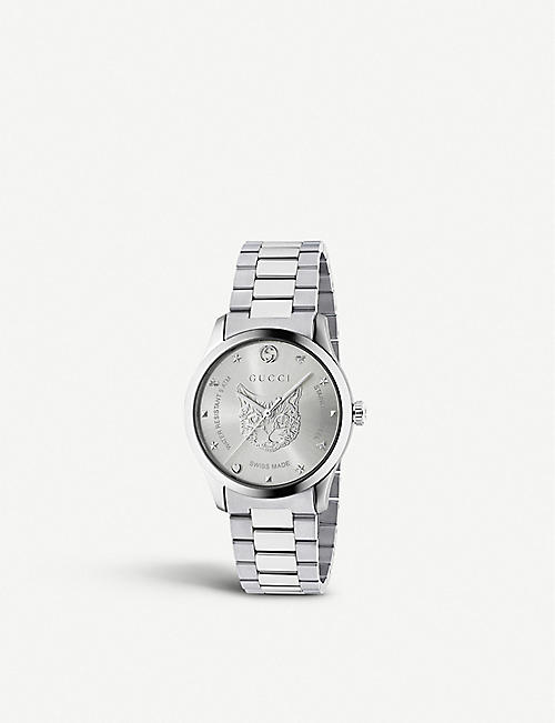 f08daf5a599 GUCCI YA1264095 G-Timeless stainless steel watch
