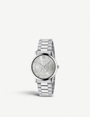 GUCCI YA1264095 G-Timeless stainless steel watch