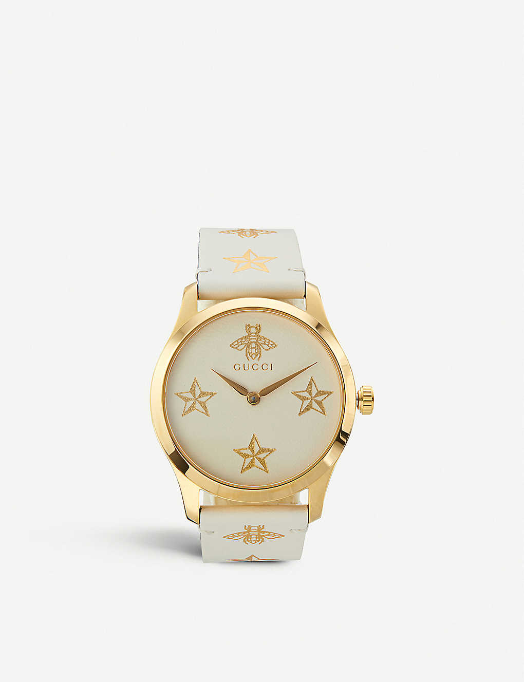 9120072d3 GUCCI - YA1264096 G-Timeless yellow-gold PVD watch | Selfridges.com