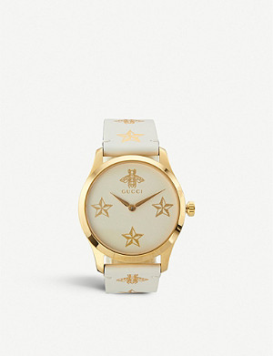 GUCCI YA1264096 G-Timeless yellow-gold PVD watch