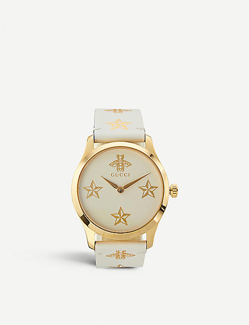 03d7dae1669 GUCCI YA1264096 G-Timeless yellow-gold PVD watch