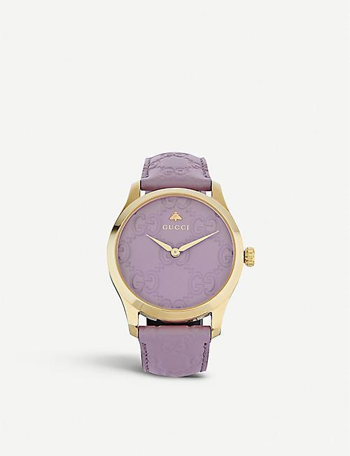02fcd4bcbe9 GUCCI YA1264098 G-Timeless yellow-gold PVD watch