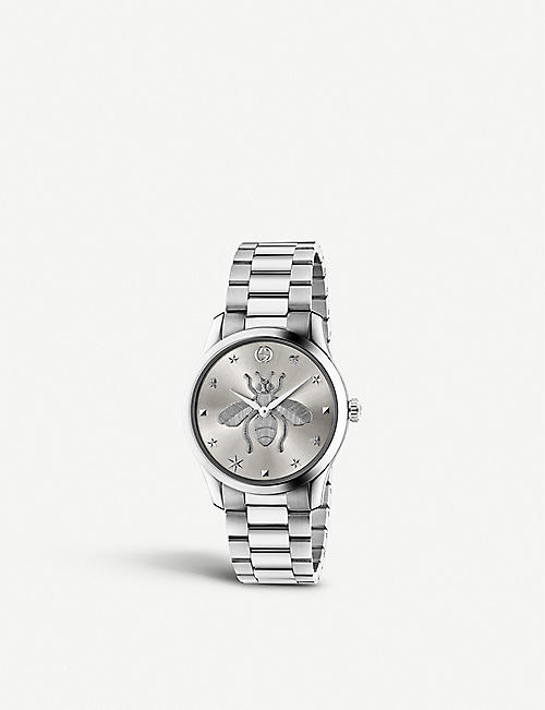 GUCCI: YA1264126 G-Timeless strainless steel watch