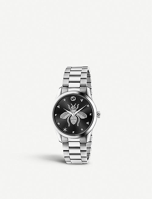 GUCCI YA1264136 G-Timeless stainless steel watch