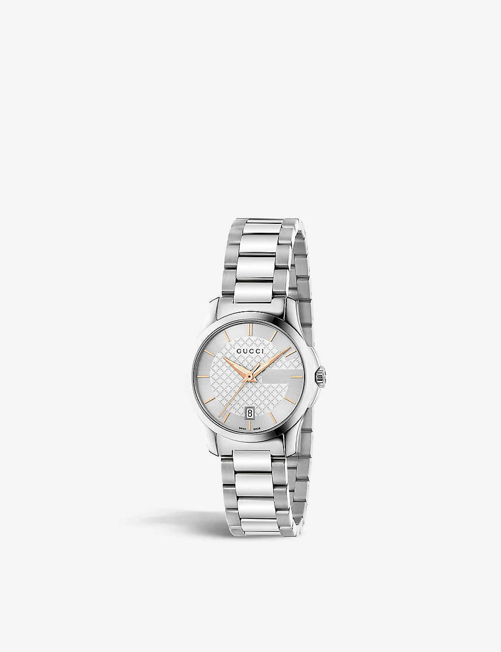 a90c8a449cb YA126523 G-Timeless stainless steel watch - Silver ...