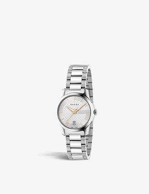GUCCI YA126523 G-Timeless stainless steel watch
