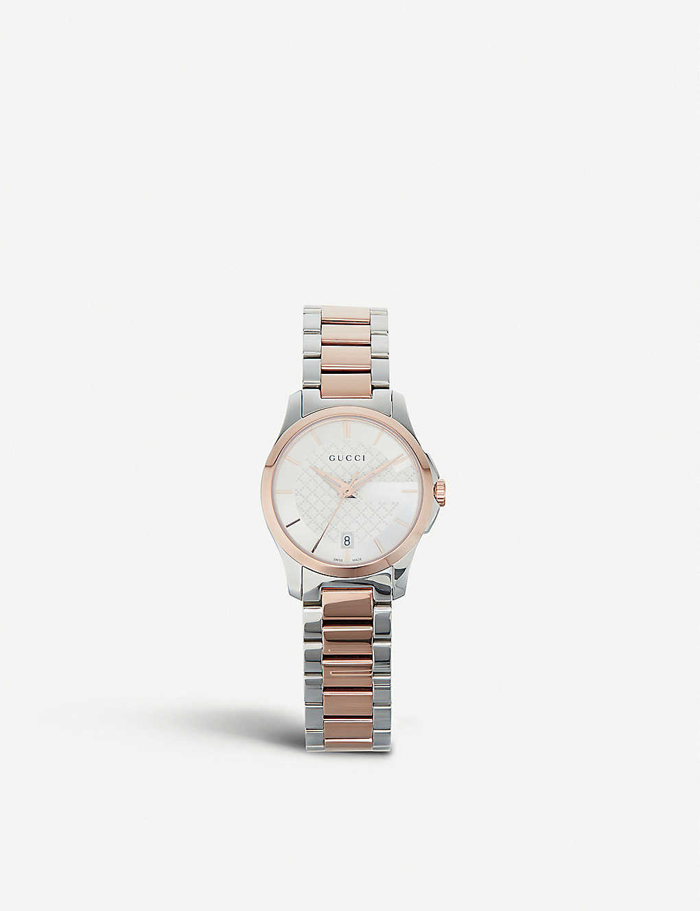 61659c4e2c GUCCI - YA126564 G-Timeless stainless steel and rose gold-toned ...