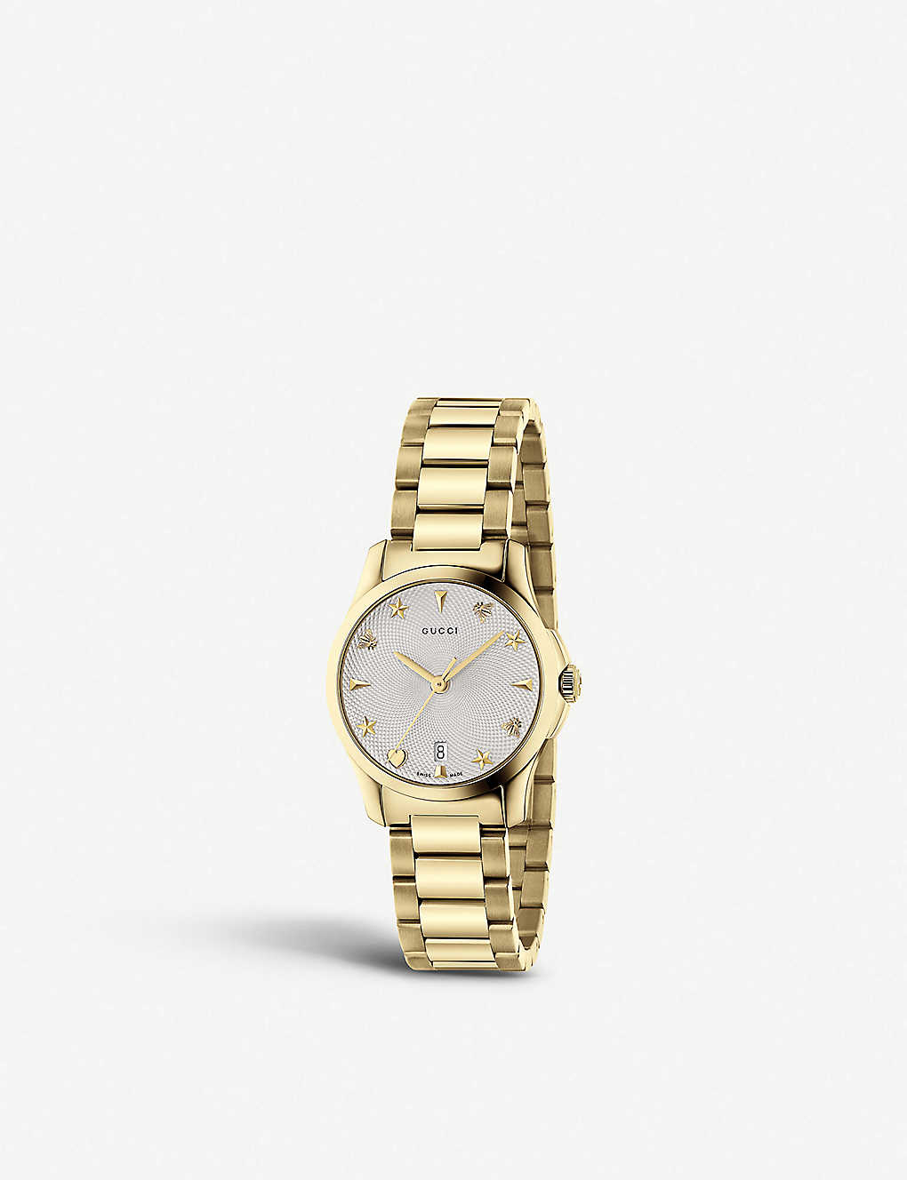 21e24037879 GUCCI - YA126576 G-Timeless Collection stainless steel and yellow-gold PVD  watch
