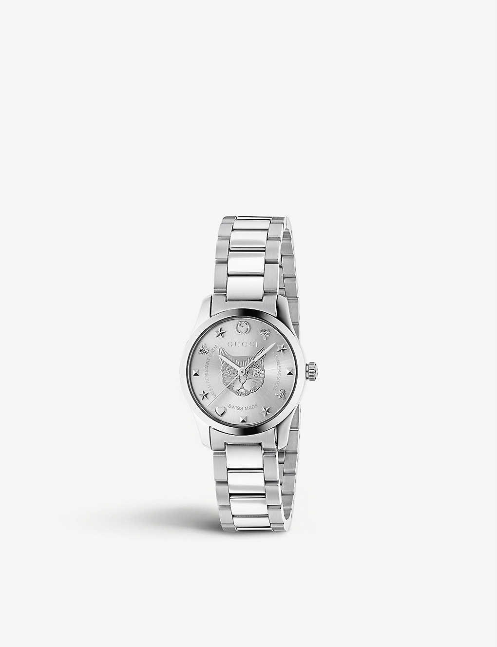 GUCCI: YA1264595 G-Timeless stainless steel watch
