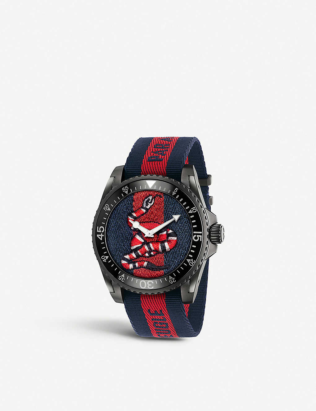 46a10b26c GUCCI - YA136214 Gucci Dive stainless steel and nylon watch ...