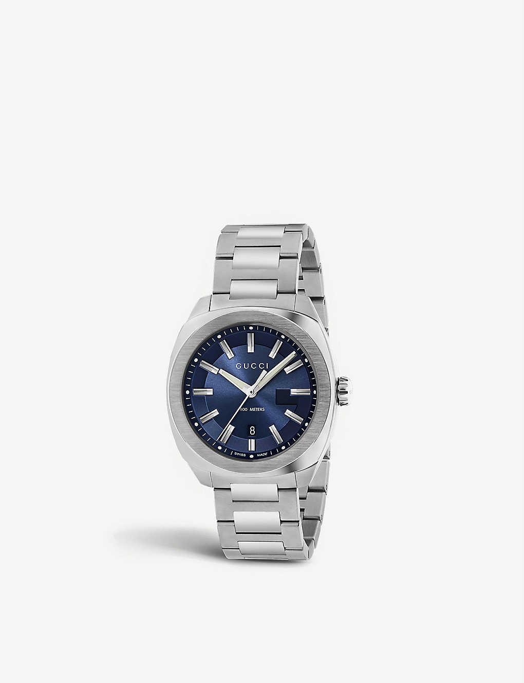 009b7751858 GUCCI - YA142303 Cushion stainless steel watch