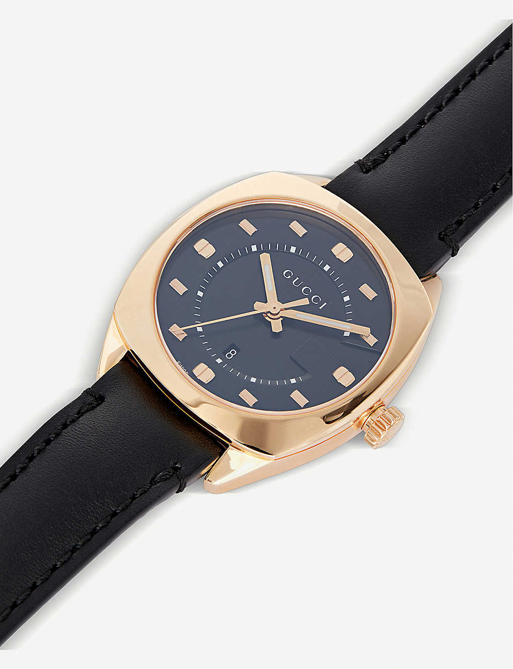 e4ae0201690 GUCCI - YA142407 GG2570 pink gold and leather watch
