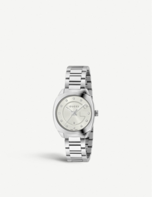 1f572116cff GUCCI - YA142504 GG2570 stainless steel and diamond watch ...