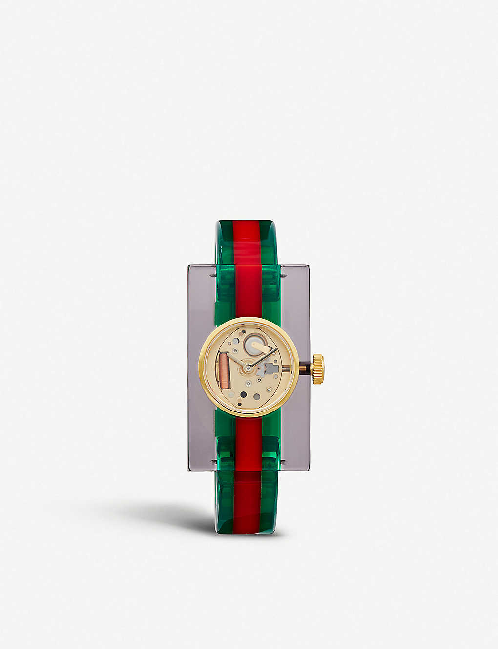 ab2304f89a1 GUCCI - YA143503 Fashion Capsule Plexiglas transparent watch ...