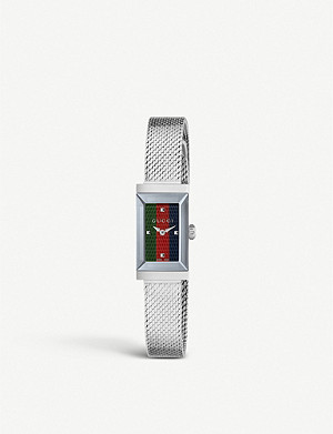 GUCCI YA147510 G-frame stainless steel watch