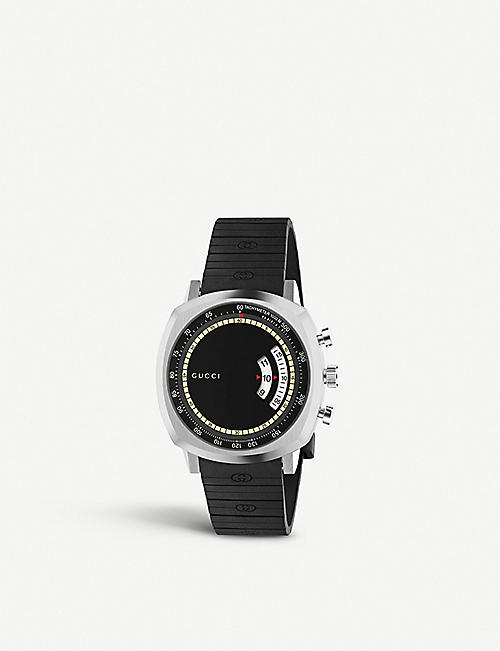 GUCCI YA157301 Grip stainless steel and rubber watch