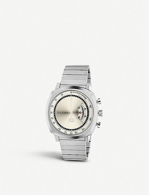 GUCCI YA157302 Grip stainless steel watch