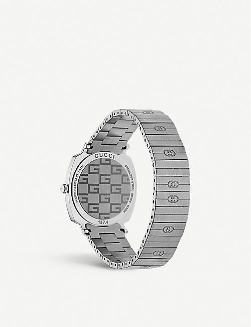 GUCCI YA157401 Grip stainless steel watch
