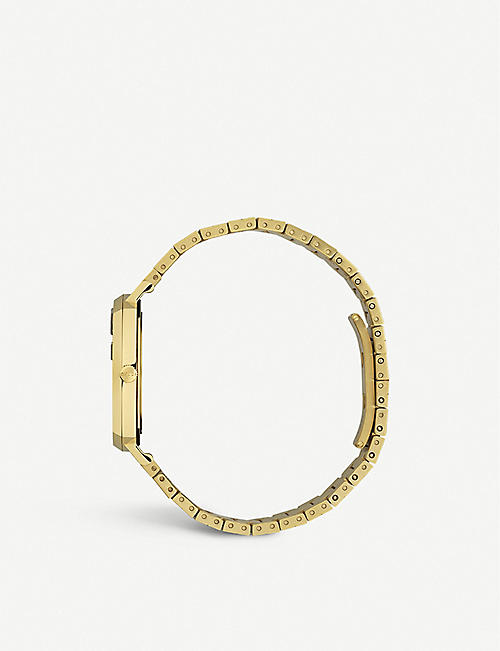 GUCCI YA157403 Grip yellow-gold PVD watch