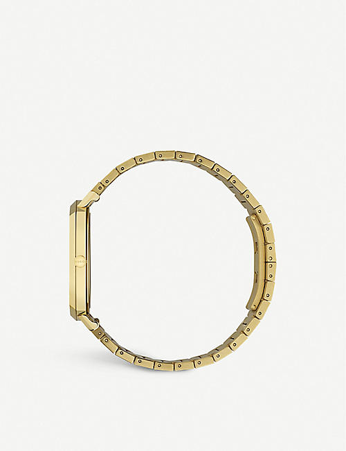 GUCCI YA157409 Grip yellow-gold PVD watch