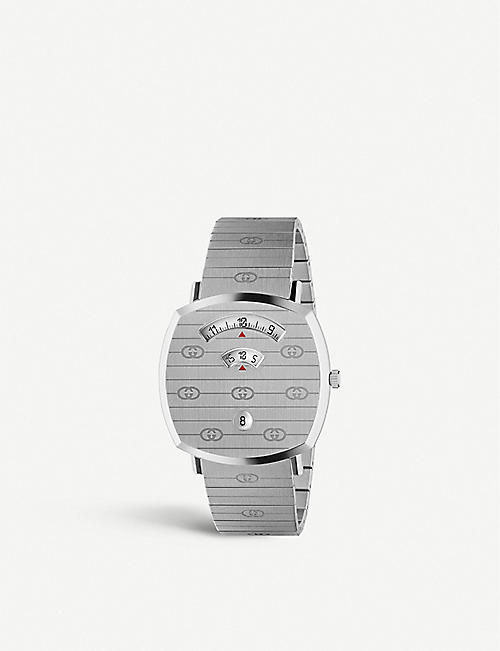 GUCCI YA157410 Grip stainless steel watch