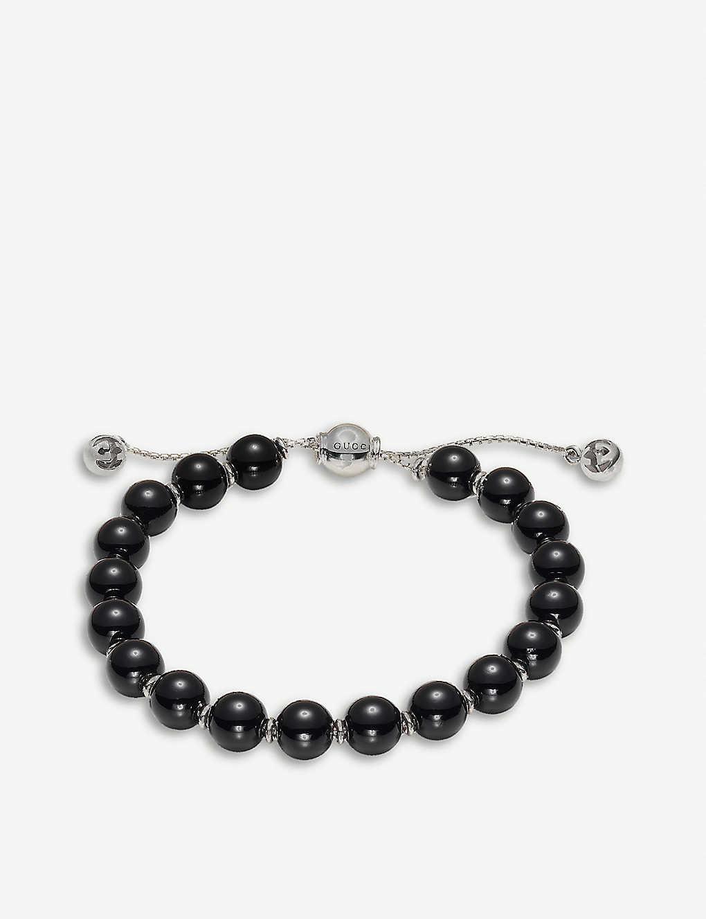 d414c9071 GUCCI - Boule Britt sterling silver bracelet   Selfridges.com