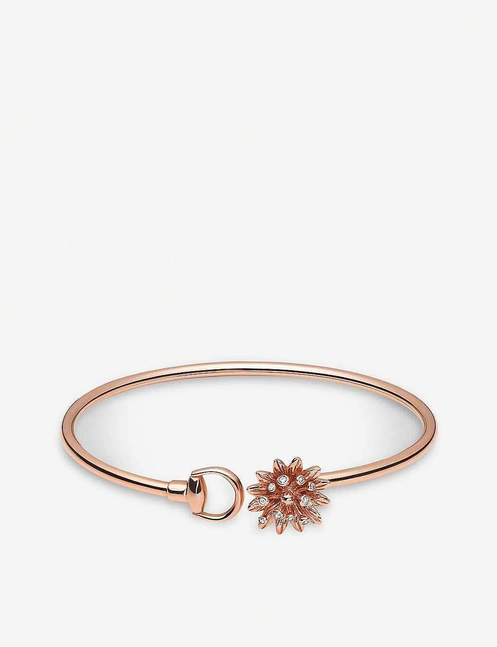 52cb381ac83cd Flora 18ct rose gold bracelet