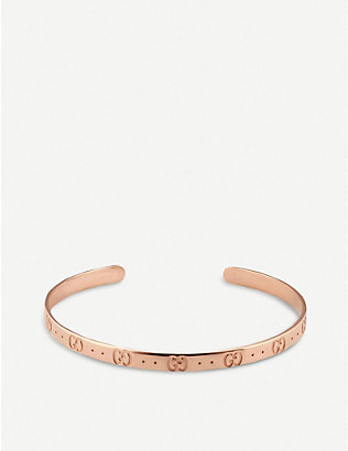GUCCI: Icon 18ct rose gold bracelet