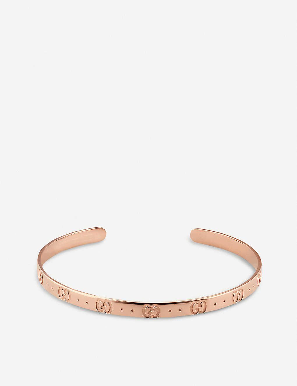 9b2265fd7 GUCCI - Icon 18ct rose gold bracelet | Selfridges.com