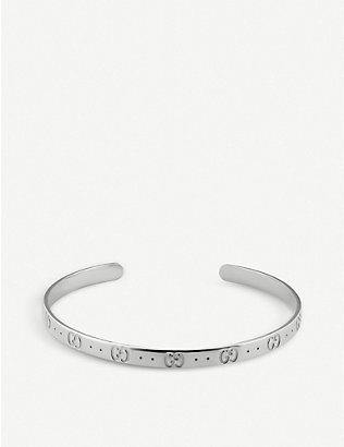 GUCCI: Icon sterling silver bracelet