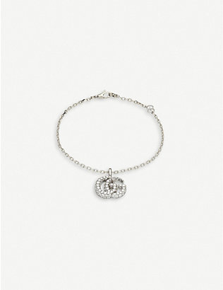 GUCCI: GG Running 18ct white-gold and diamond bracelet