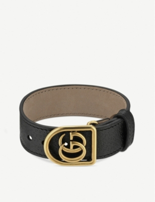 GUCCI Marmont Double G leather bracelet